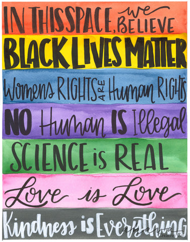 In This Space, Subway Art for Social Justice, Watercolor Art Print
