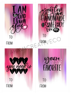 Valentine DIY Printable Cards