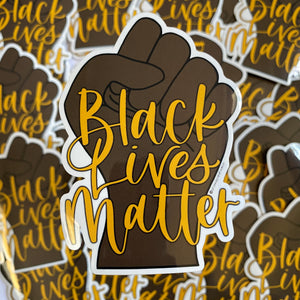 Black Lives Matter Fist Vinyl Sticker