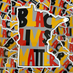 Black Lives Matter Minnesota Vinyl Sticker