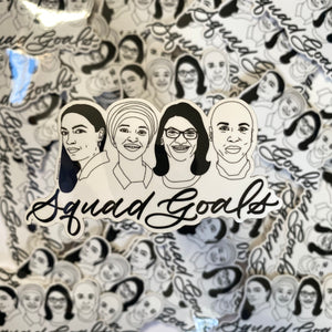 Squad Goals Vinyl Sticker