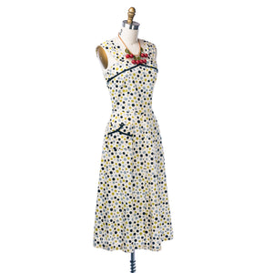 vintage 1930's dress ...fun cotton polka dot sundress and bolero jacket dress