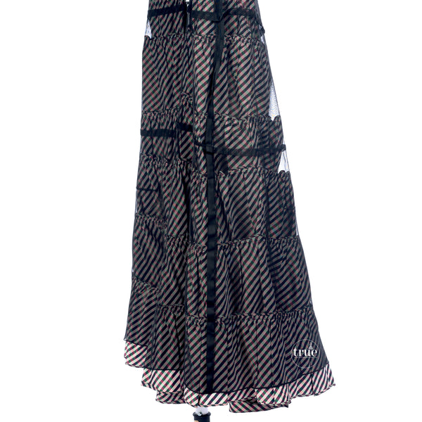 vintage 1930's dress ...black velvet & taffeta layers dress