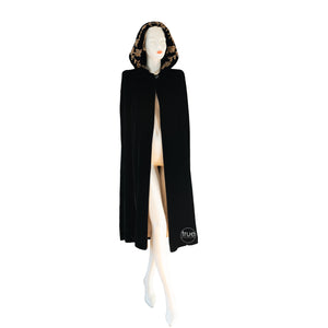 vintage 1930's cape ...decadent black velvet hooded opera cape