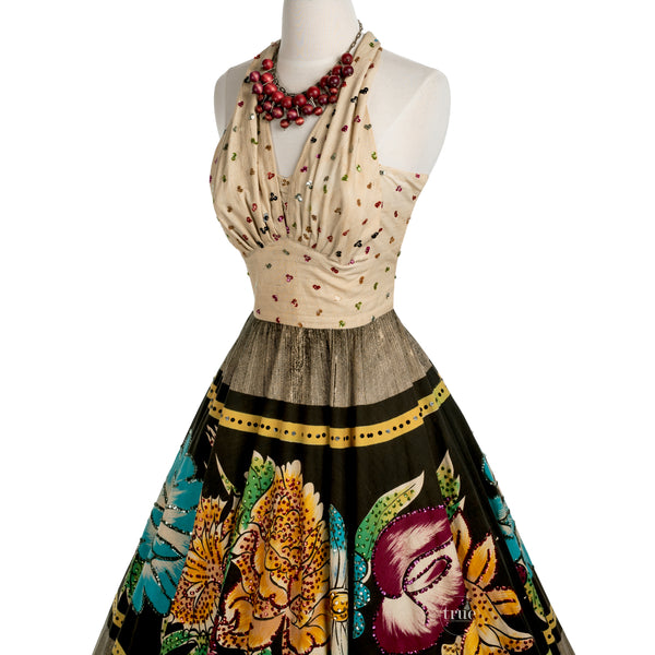 vintage mexican circle skirt