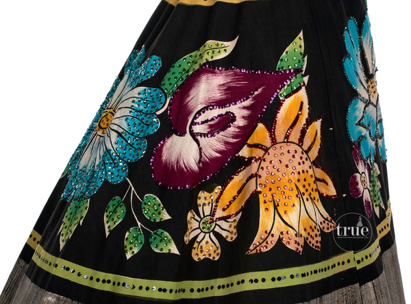 1940's MEXICAN hand-painted halter dress