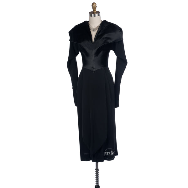 true vintage film noir dress