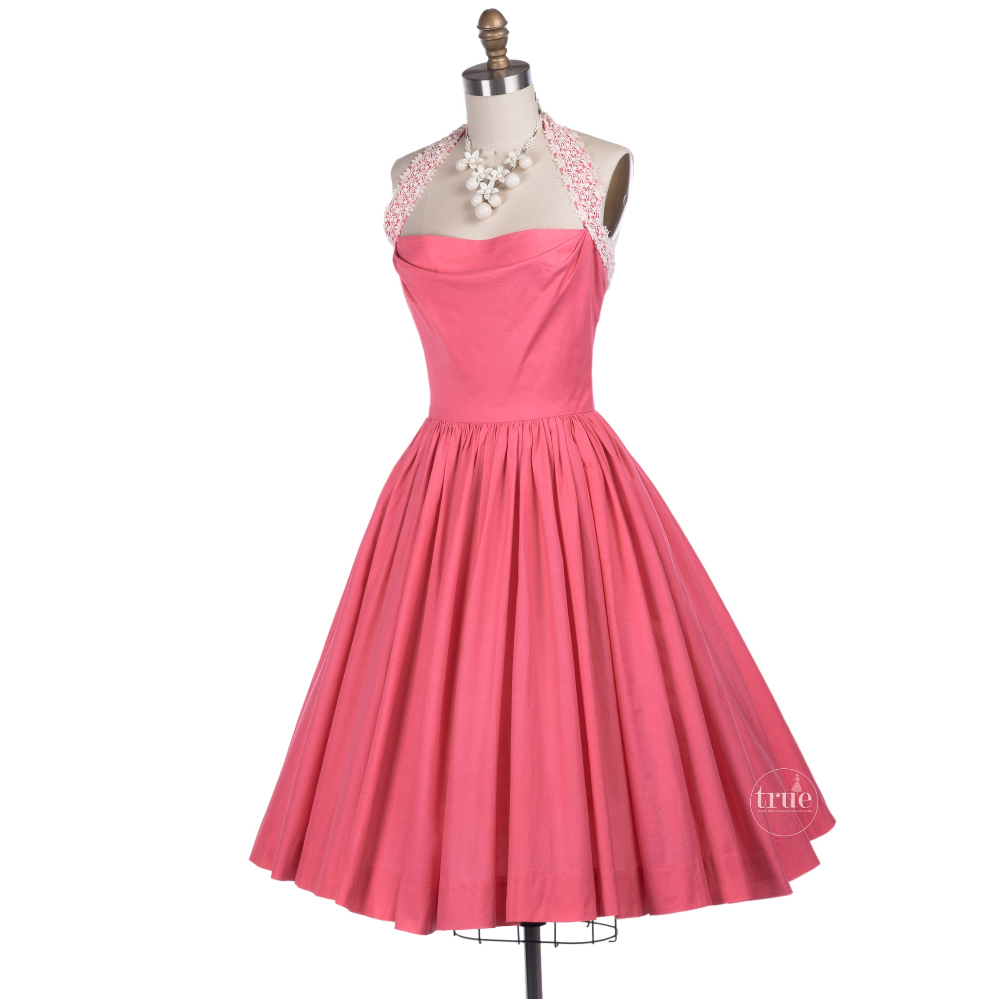 vintage 1950's pink ELAINE TERRY california pinup perfect halter dress