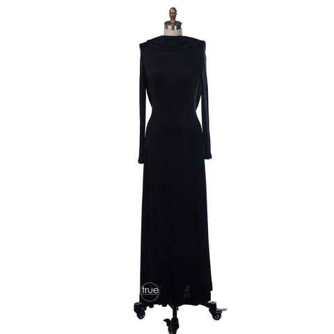 vintage 1960's dress ...couture designer Luis Estévez black draped backless cocktail dress