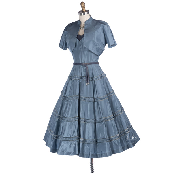 vintage 1940's cocktail party dress