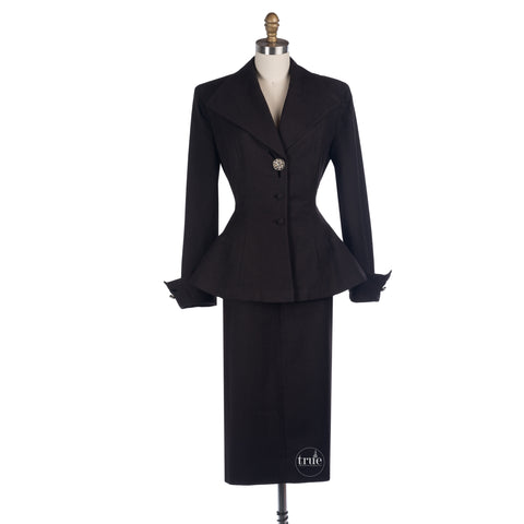 1940's Betty Hill california Burelson's jacket skirt suit