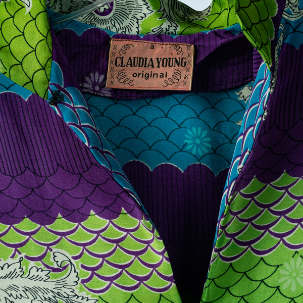 1940's Claudia Young dragon dress