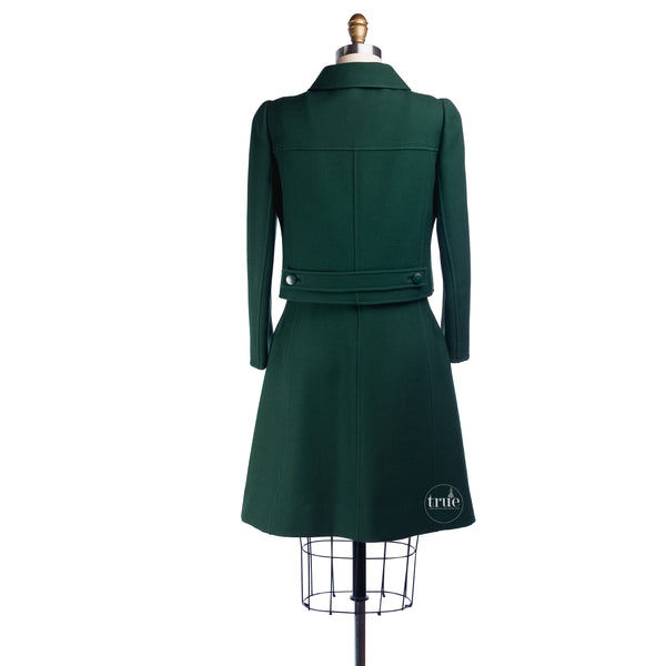 1960's André Courrēges Couture Space-Age Mod Jumper Dress & Jacket