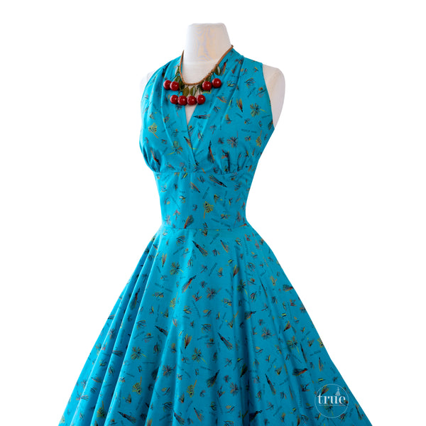 1950's Cover Girl of Miami novelty print dress
