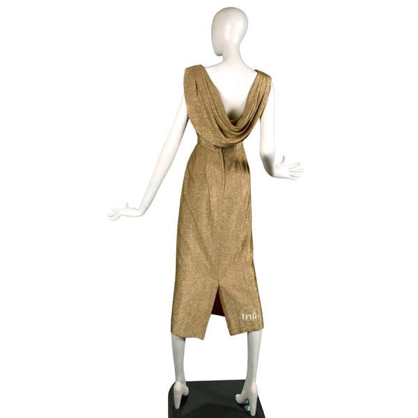1950's Ferman O'Grady gold lamé wiggle dress