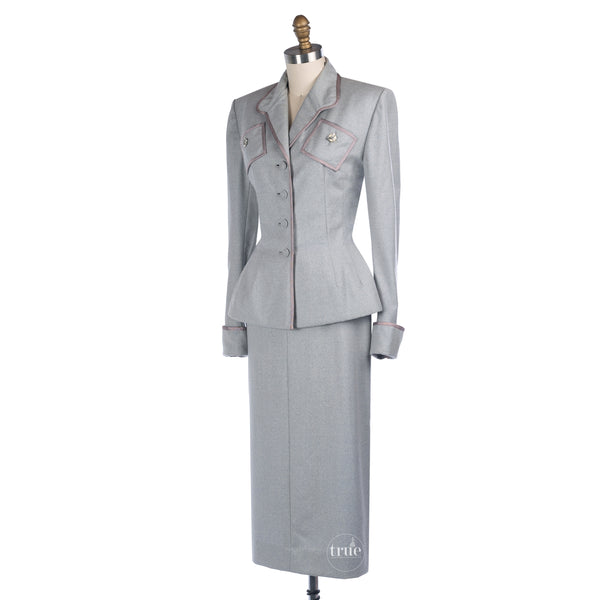 1940's lilli ann jacket skirt suit