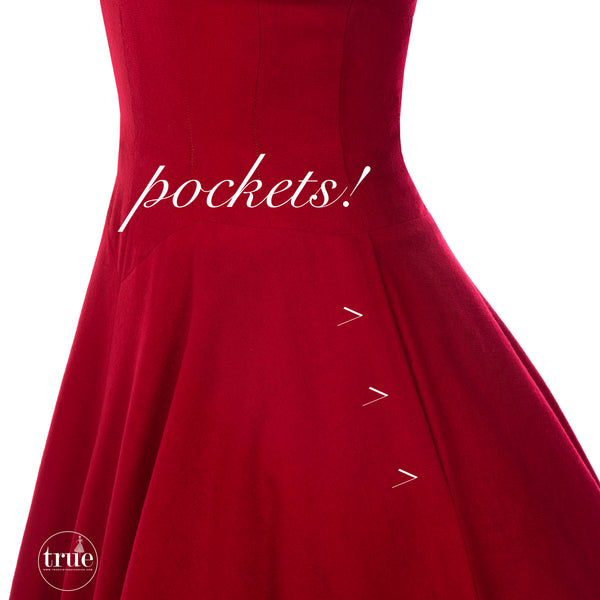 vintage 1950's dress ...classic Lord & Taylor red wool dress