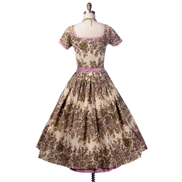 1950's Parade New York cotton floral dress