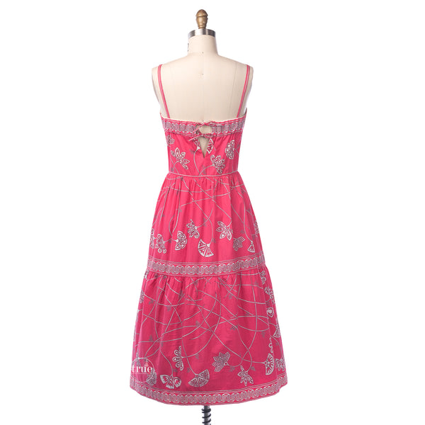 vintage 1960's dress ...rare cotton sateen Emilio Pucci Boutique convertible halter summer sun dress