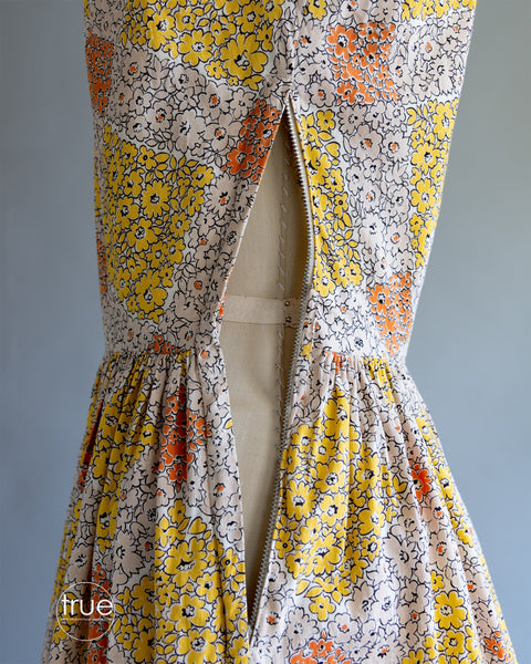 vintage 1940's dress ...Sue Mason by Saba of California cotton piqué midi dress
