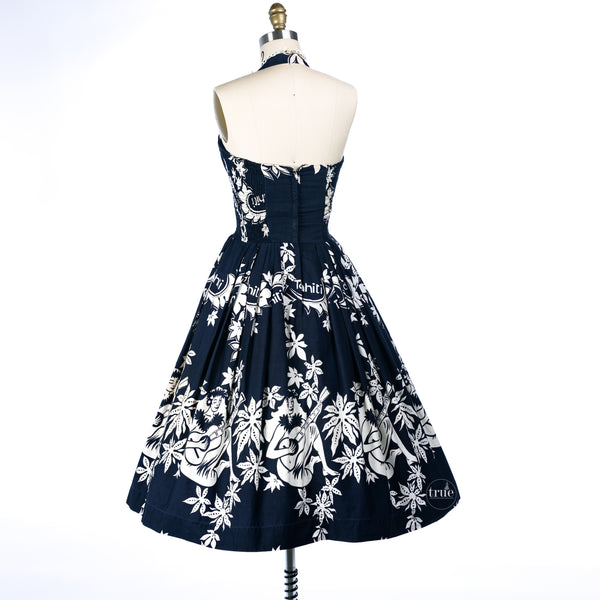 1950's very rare Alfred Shaheen Tahitian Girl Dress