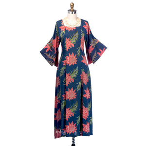 vintage 1940's hawaiian dress