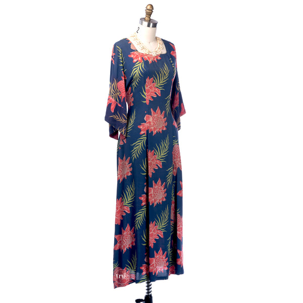 true vintage 1940's pake muu dress