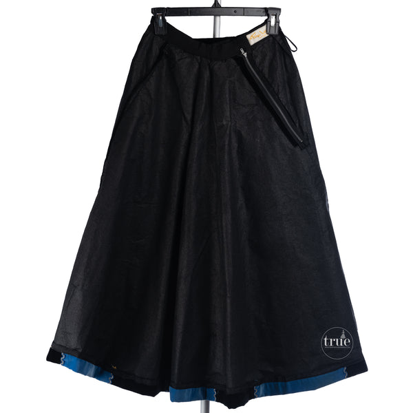 1940's Tina Leser embroidered velvet paneled skirt