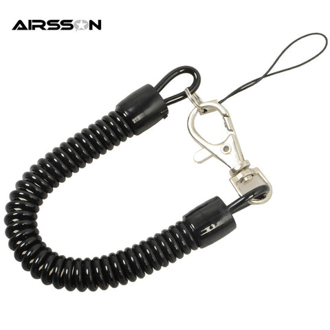 Retractable Plastic Spring Elastic Rope Anti-lost Phone Keychain