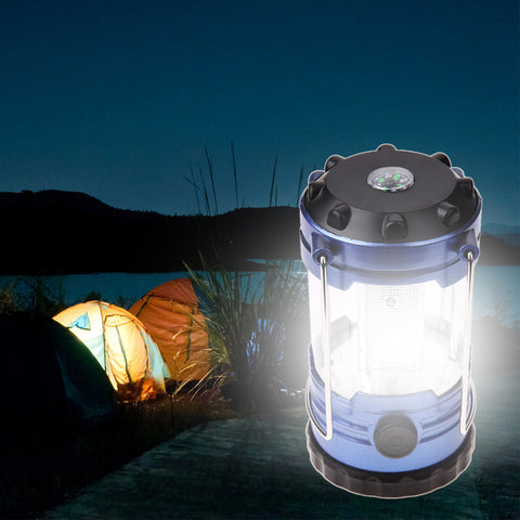 Adjustable Bright LED Camping Lantern with Compass
