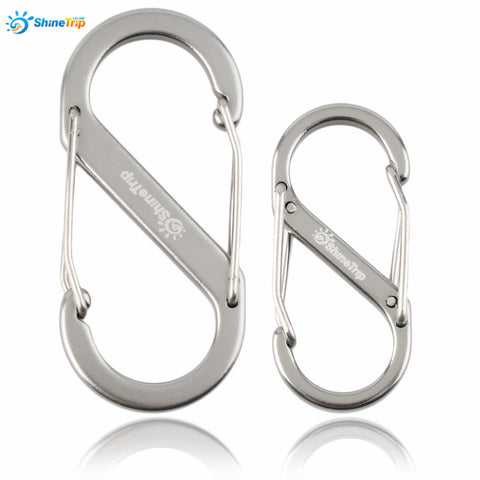 8-type Metal Keychain Hook Carabiner (Small or Big)