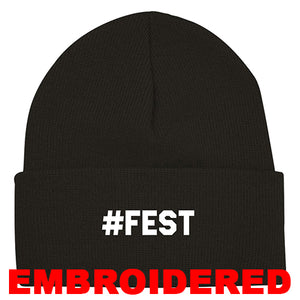#FEST 16th Edition #FEST Black Cuffed Beanie