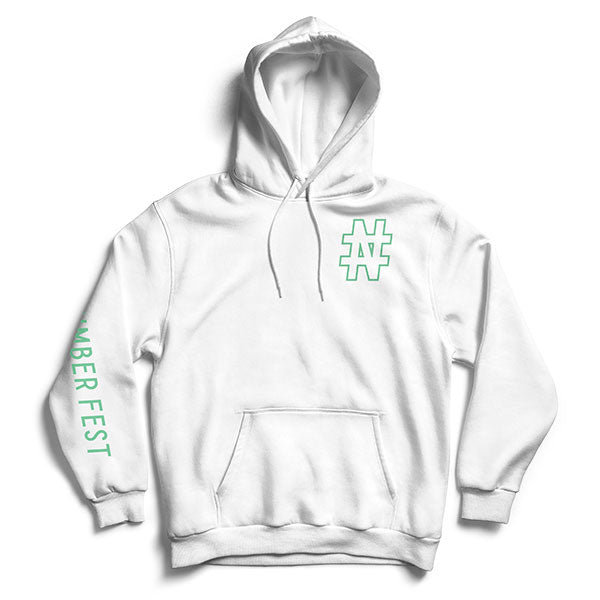 #NUMBER FEST White Pullover Hoodie 2019 Presale