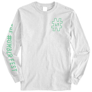 #NUMBER FEST White Long Sleeve T-Shirt 2019 Presale