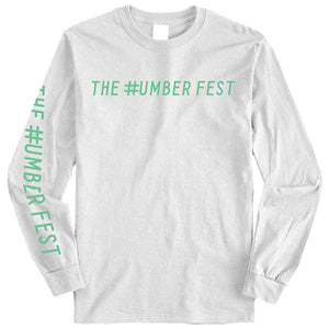 #NUMBER FEST LOGO White Long Sleeve T-Shirt 2019 Presale