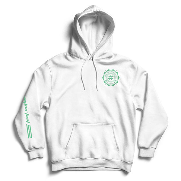 Number Fest Crest White Pullover Hoodie 2019 Presale