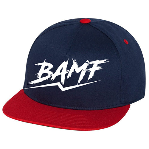 BAMF Fire Breakaway Festival Flat Bill Hat