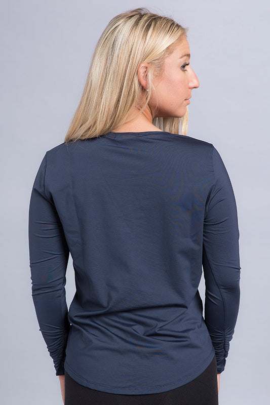Martina Eco Ruched Sleeve Top - Vivacity Sportswear