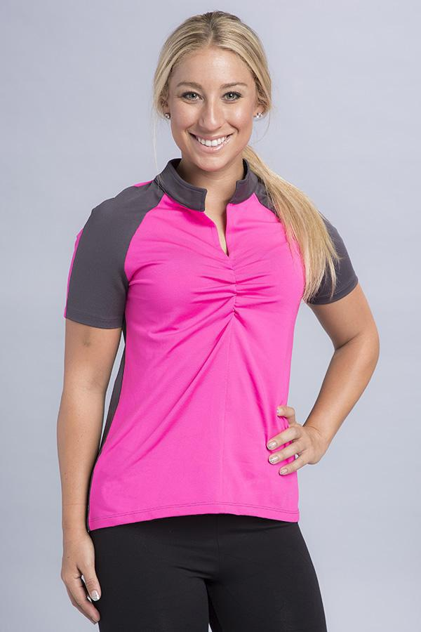 Roxy Short Sleeve Polo Top - Vivacity Sportswear