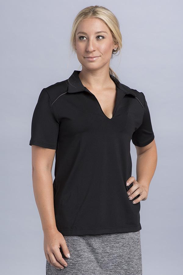 Jasmine Short Sleeve Polo Top