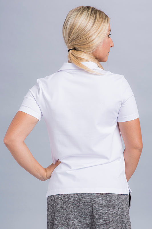 Jasmine Short Sleeve Polo Top - Vivacity Sportswear