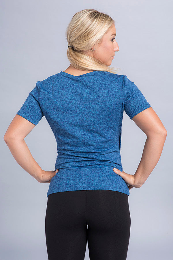 Diane Wrap Short Sleeve Top - Vivacity Sportswear