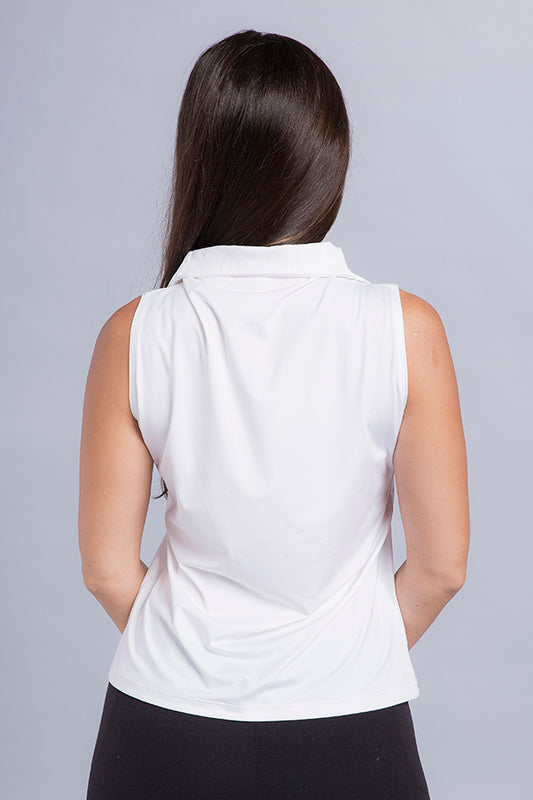 Demi Eco Zip Sleeveless Top - Vivacity Sportswear