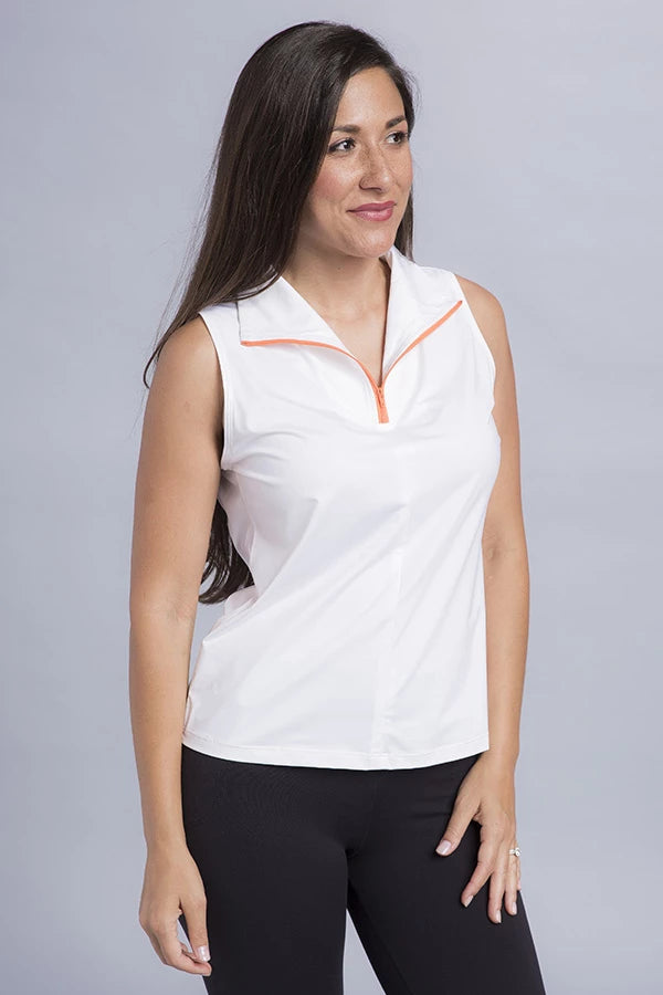 Demi Eco Zip Sleeveless Top