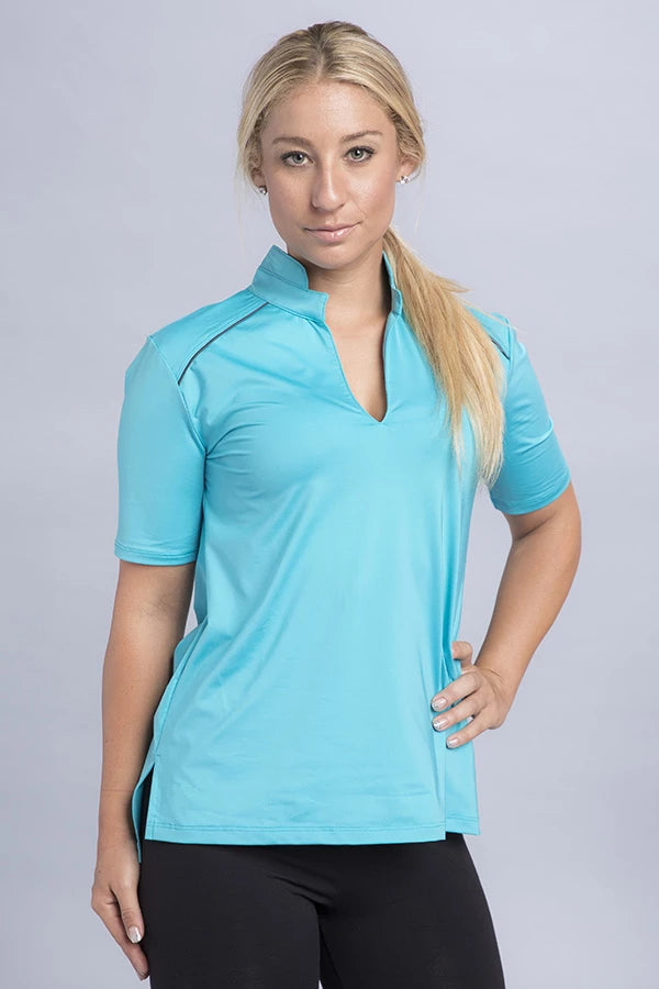 Dee Short Sleeve Eco Polo Top - Vivacity Sportswear