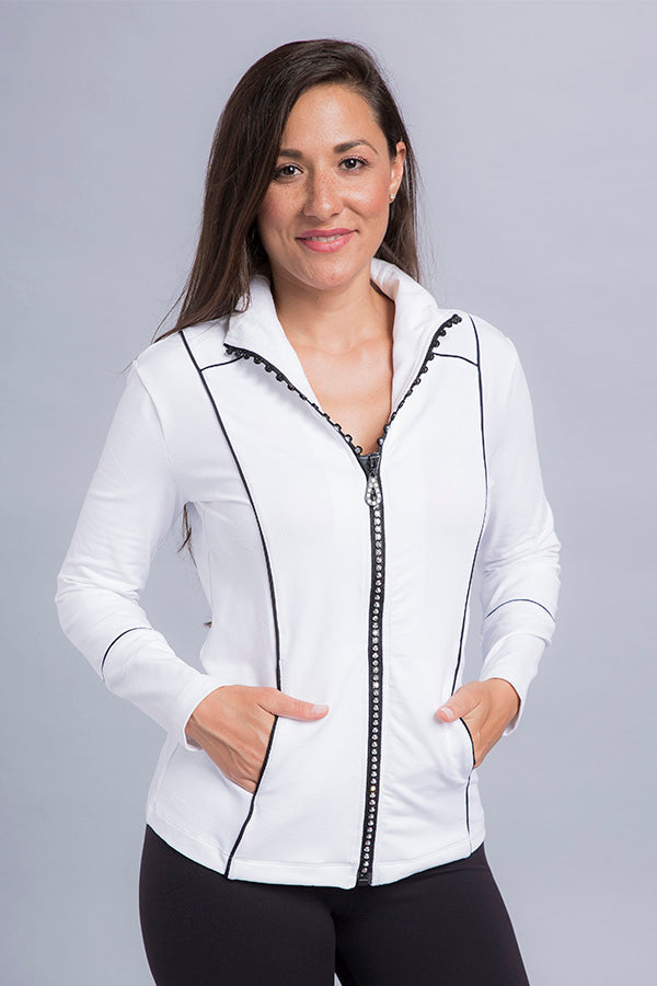 Jenny Crystal Zip Jacket