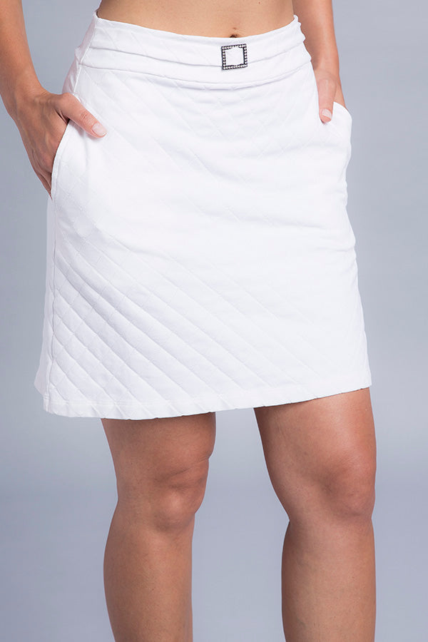 Traci Crystal Buckle Skirt