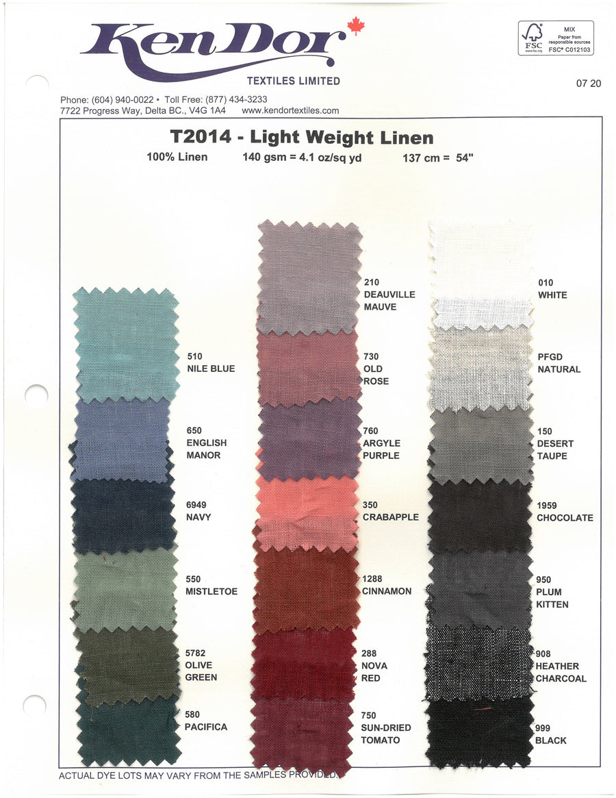 T2014 - Light Weight Linen