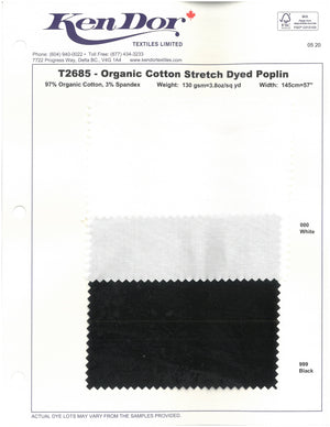 T2685 - Organic Cotton Stretch Dyed Poplin