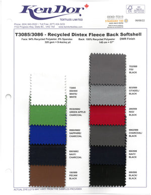T3085/T3086 - Recycled Dintex Fleece Back Softshell